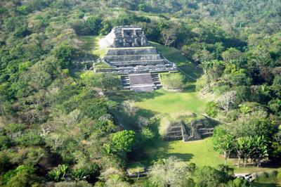 Xunantunich Areal View