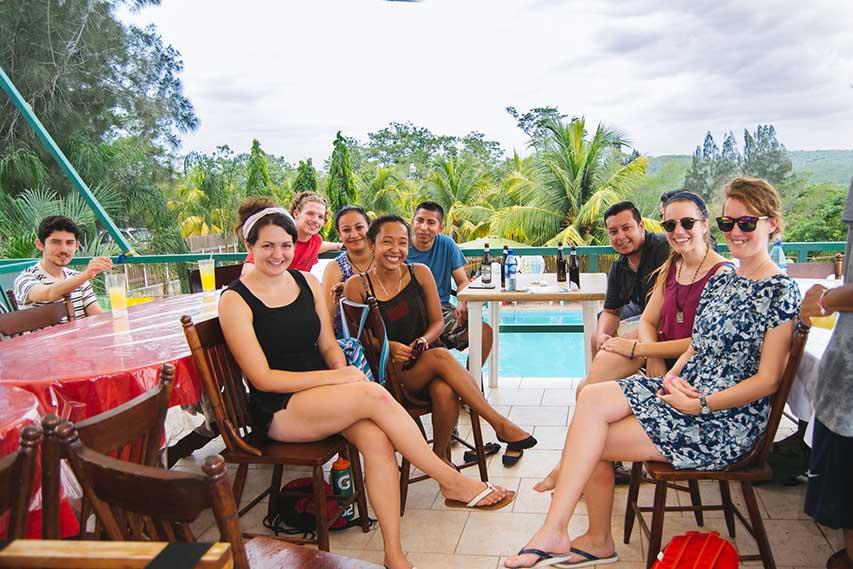 Teachers-enjoying-their-teacher's-trip-to-Rumors-Resort